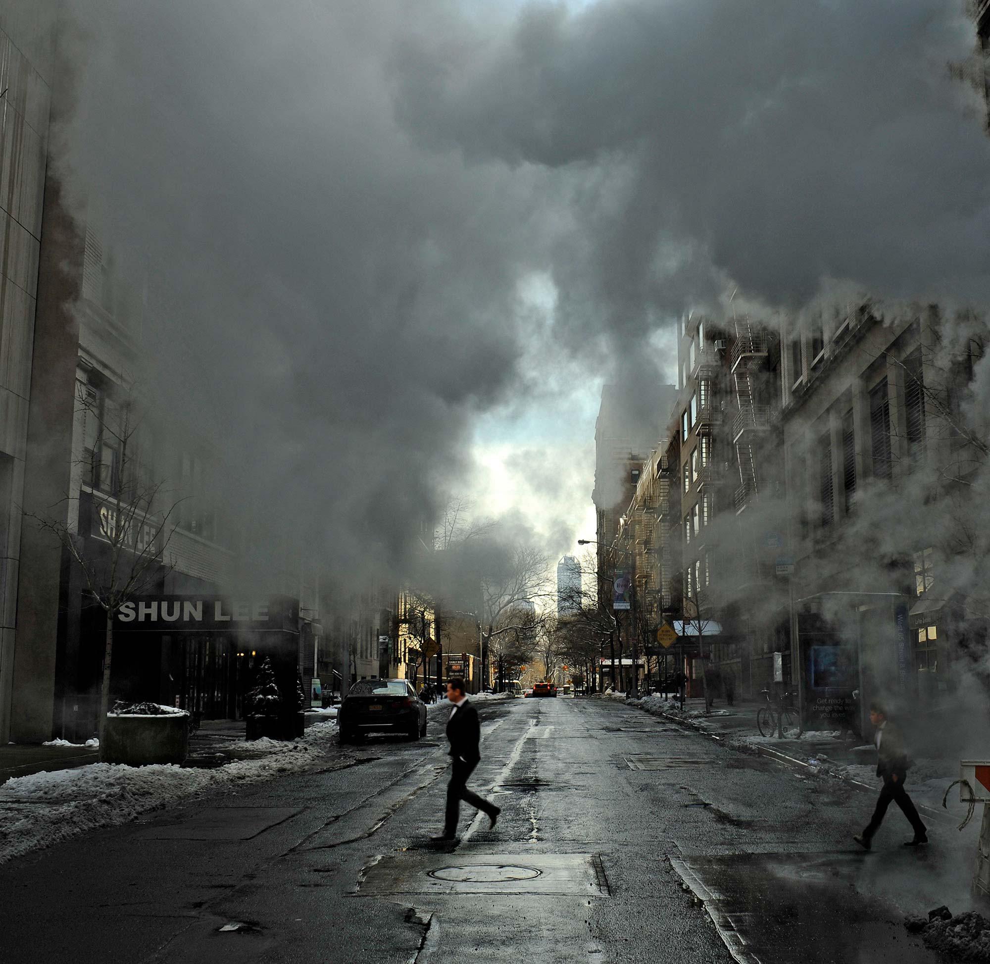 """Evaporating""  New York City - 20° F"