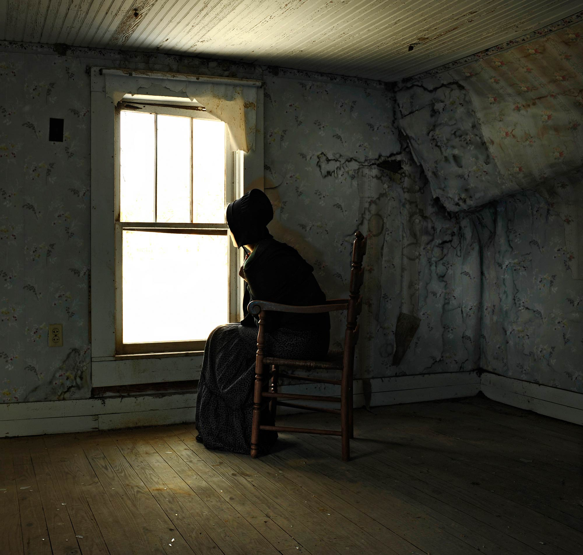 """""""Anticipation""""   An old Amish house in rural Kentucky."""