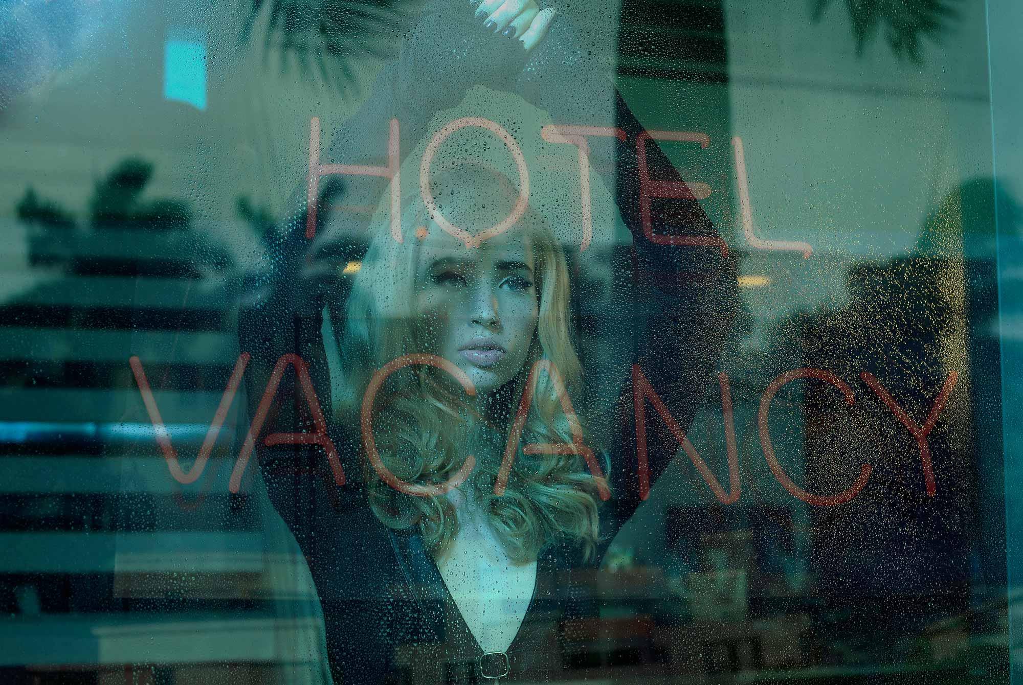 """Sleepless""  South Beach art deco hotel."