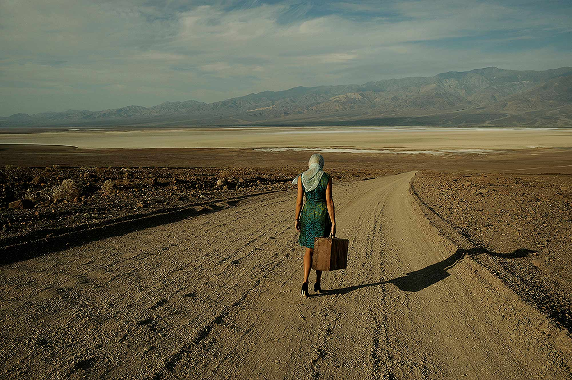 """""""A Desert Road From Vegas to Nowhere""""  Death Valley.  Descending into the Badlands."""