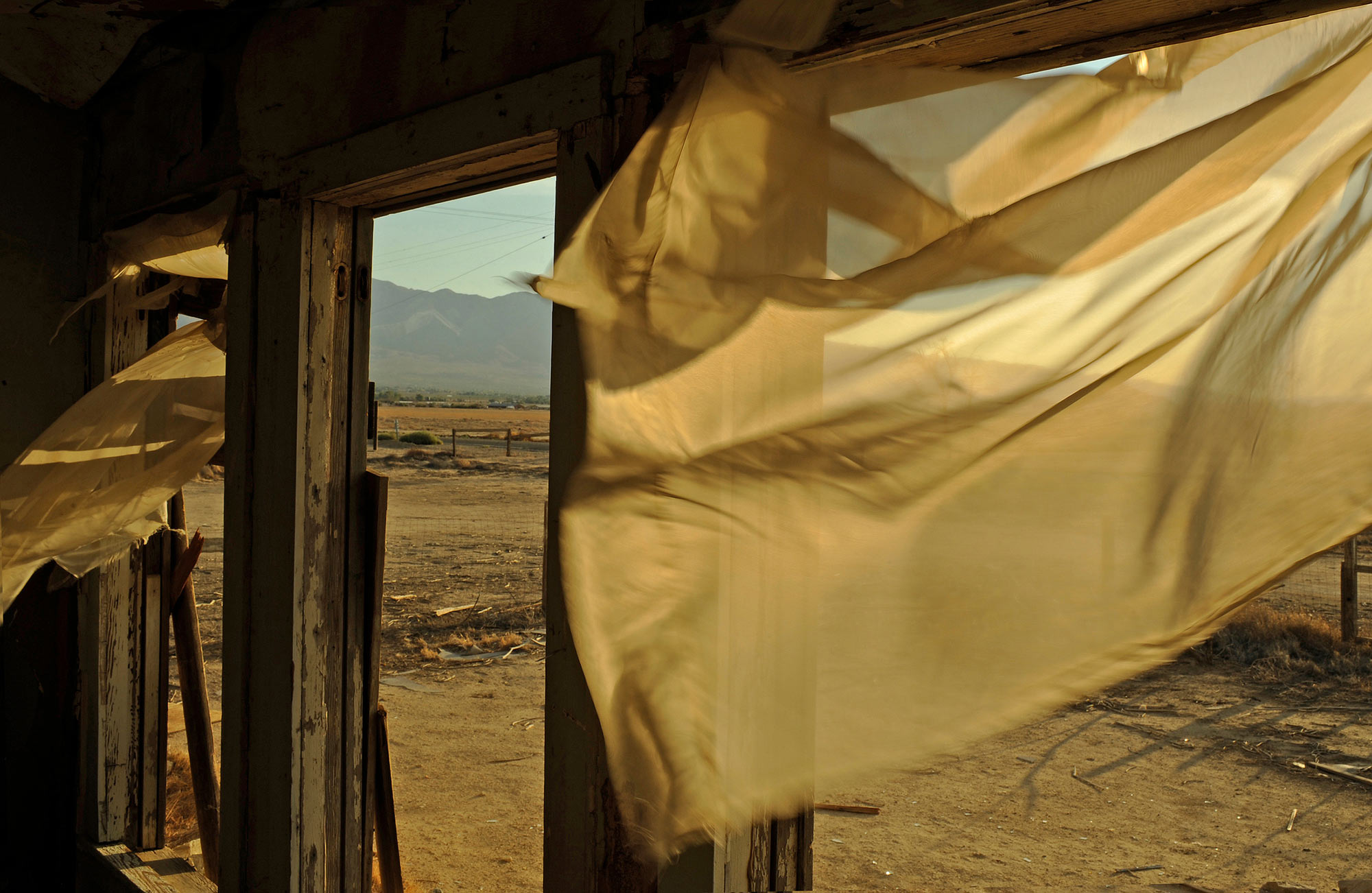 """A Hot Dry Wind Blows Right Through Me""  Abandoned buildings in the Mojave Desert"