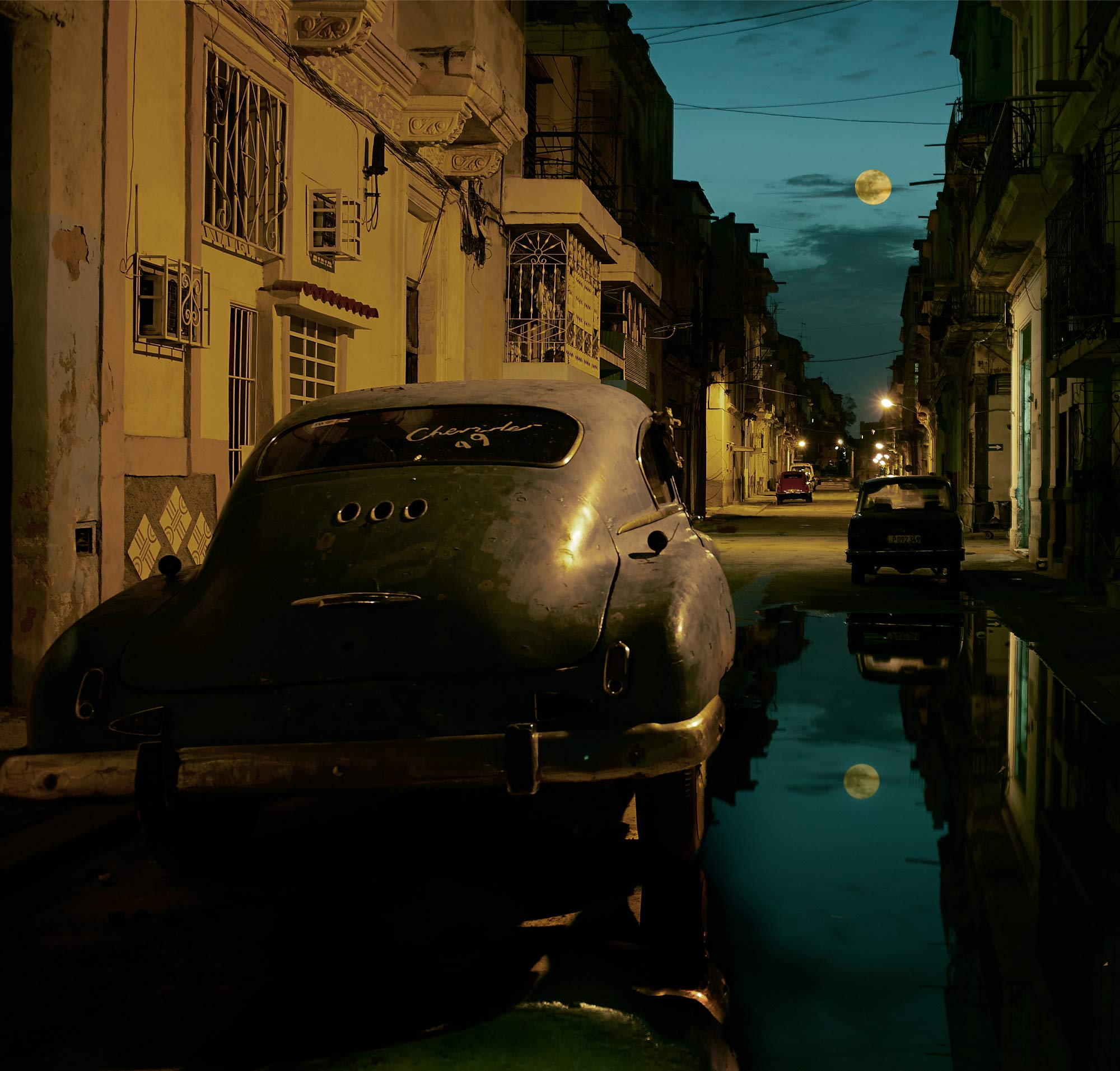 24 hours in Havana, Cuba.  I flew over and back with my friend who is a senior pilot for Air France.  I spent more time in the plane than on the ground.